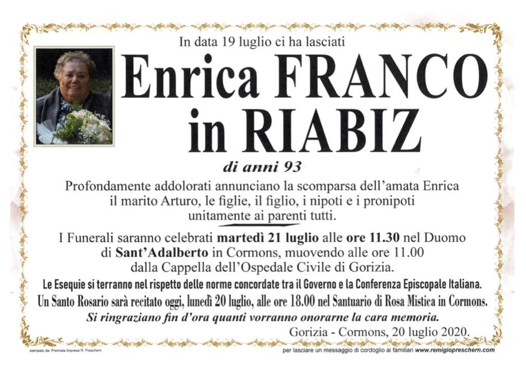 Enrica Franco in Riabiz