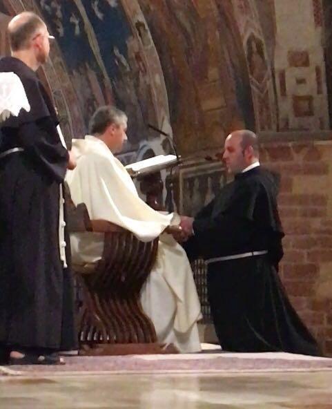 Professione temporanea di fra Piero ad Assisi