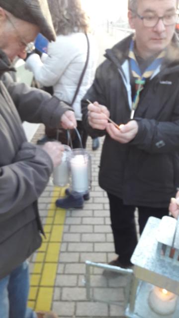 La Luce di Betlemme in stazione a Cervignano