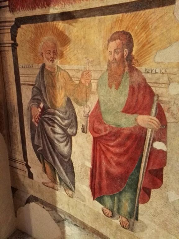 Affresco santi Pietro e Paolo